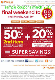 Payless Shoes coupons for march 2017