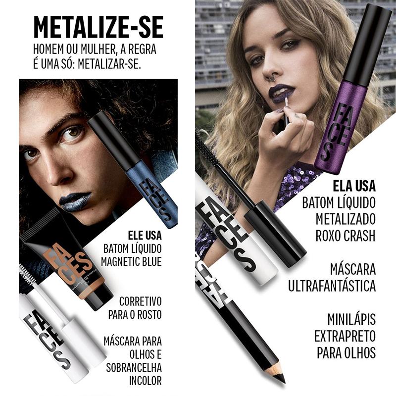 Sugestões de maquiagens metalizadas!