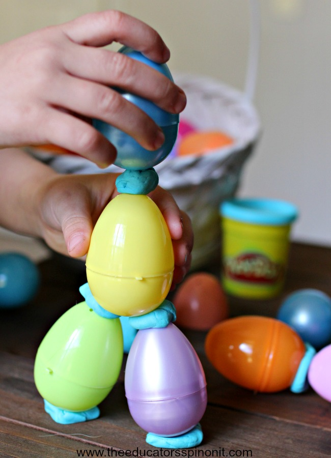 Spring STEM Activities For Kids 3 Demensional Egg Structures PLUS More Learning Center
