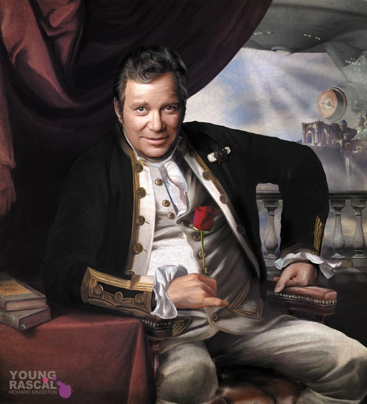 05-James-T-Kirk-Star-Trek-Richard-Kingston-Old-Masters-Paintings-with-a-Science-fiction-Twist-www-designstack-co