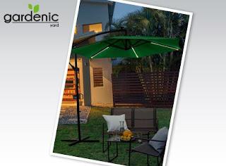 Parasol ogrodowy z oświetleniem LED Gardenic z Biedronki