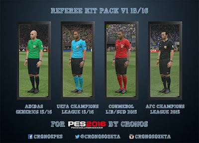 PES 2016 REFEREE KIT PACK v1 15-16 by CRONOS