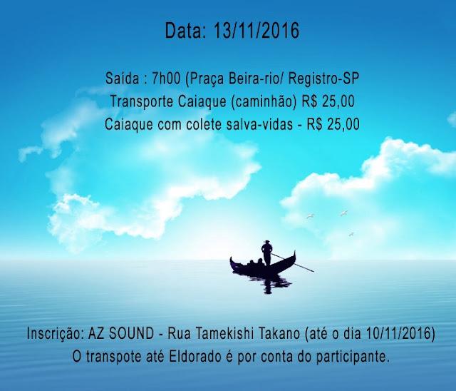 """Remada Ecológica """"Expedição Taquary"""" em Eldorado-SP"""