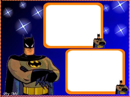 Batman in Blue, Free Printable Invitations, Labels or Cards.