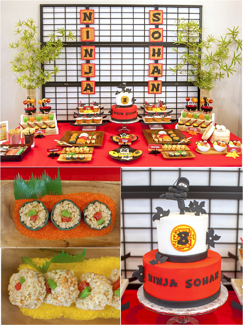 Ninja Japanese Birthday Party Ideas, Decorations & Printables - via BirdsParty.com