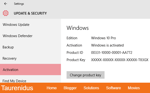 Proof of Windows 10 Pro Activation