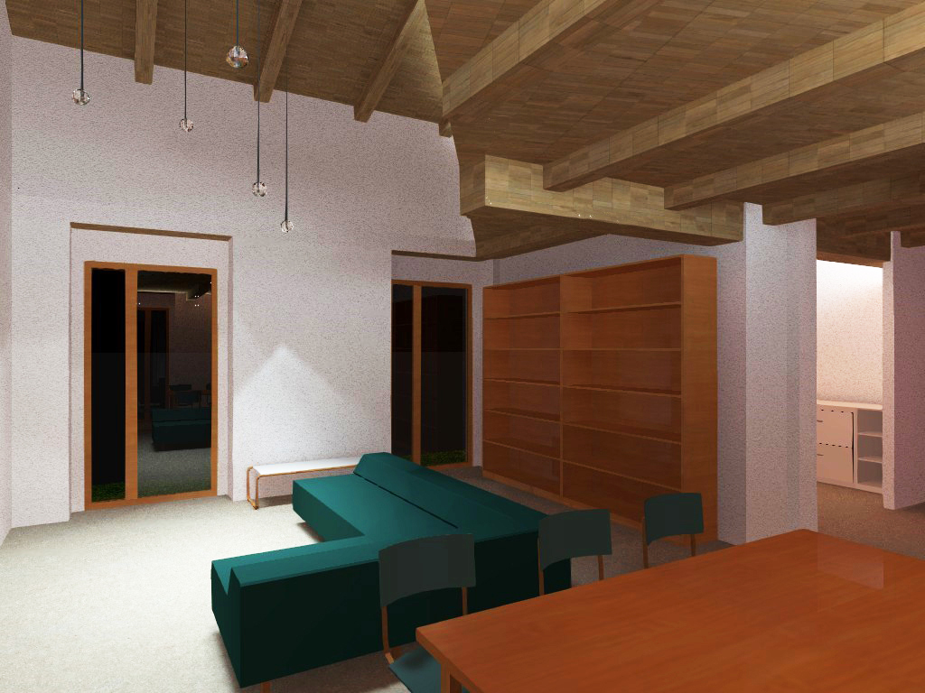 Illuminazione soggiorno con lampade una casa con soffitti che