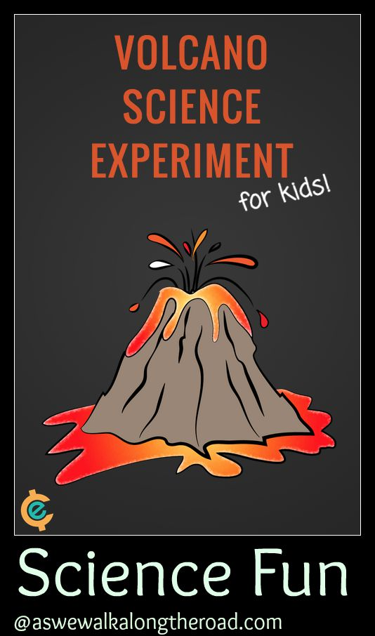 A fun science experiment with volcanoes