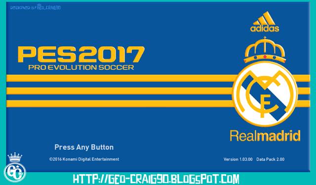 Real Madrid Start Screen PES 2017