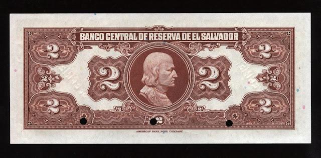EL SALVADOR money 2 Colones