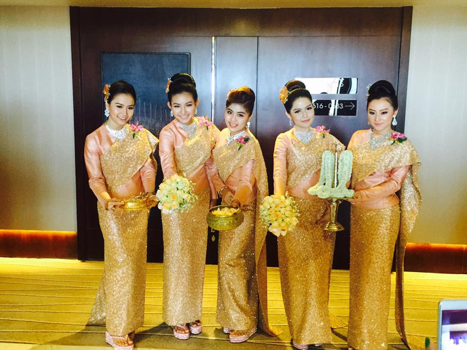 May Myint Mo As Bridesmaid At Wedding of Moe Yu San and Swan Thu Moe
