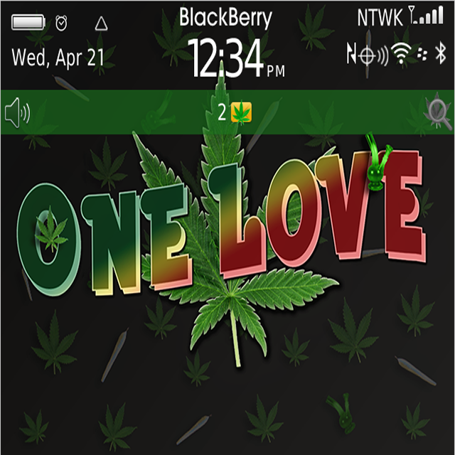 Download Free BlackBerry Themes: Free Weed One Love V2 0