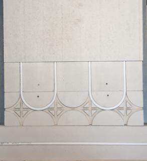 Mur chauffant gypse 18mm finition placo platre : retour boucle