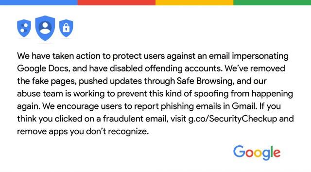 Google conferma attacco phishing a Google Docs