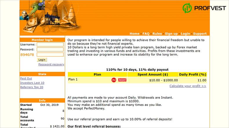 10 Dollars обзор и отзывы HYIP-проекта
