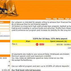 10 Dollars: обзор и отзывы о 10dollars.me (HYIP платит)