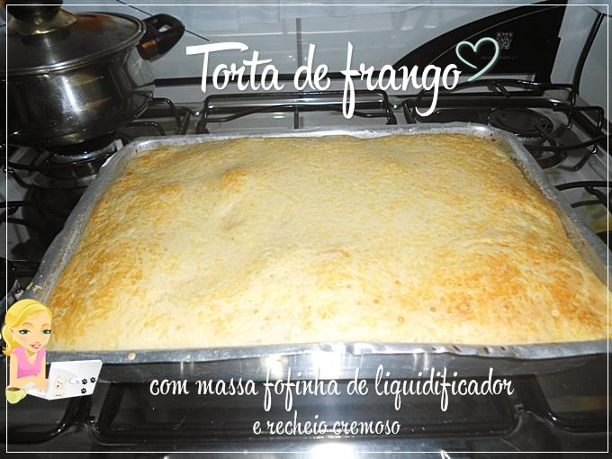 torta de frango com massa fofinha feita no liquidificador