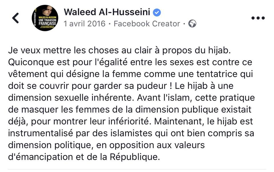 Citations De Waleed Al Husseini Sur Le Voile Islamique