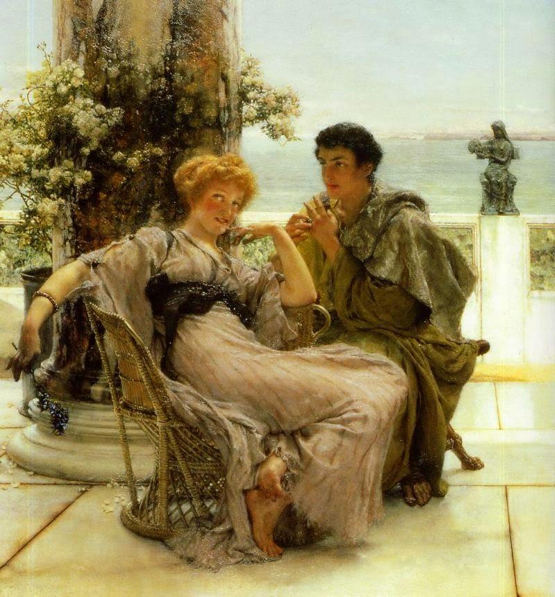 Pedindo em Casamento - As mais belas pinturas de Lawrence Alma-Tadema - (Neoclassicismo)