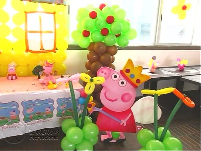 Decoracion peppa pig fiestas infantiles medellin for Decoracion de pared para fiestas infantiles