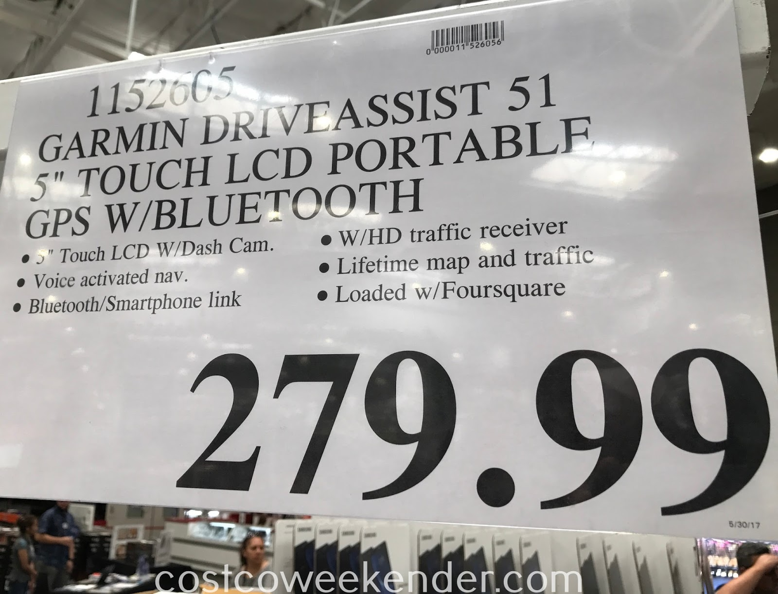 Deal for the Garmin DriveAssist 51 LMT GPS at Costco