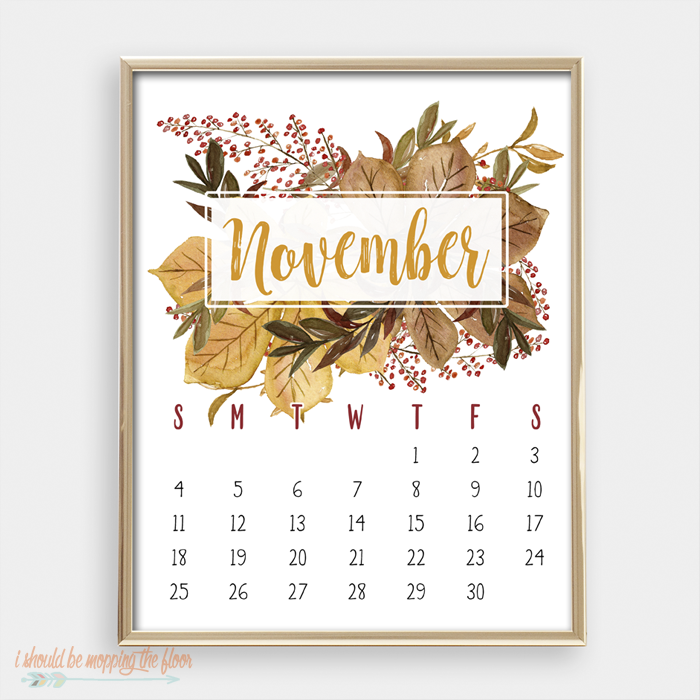 This gorgeous, watercolor 2018 Printable Calendar is perfect for your home or office. Also includes a free, coordinating calendar-at-a-glance printable, too!