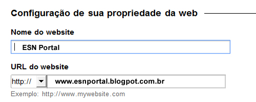 Nome do site