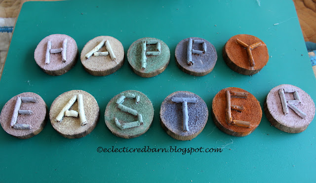 Eclectic Red Barn: Easter Wooden Letters painted different colors