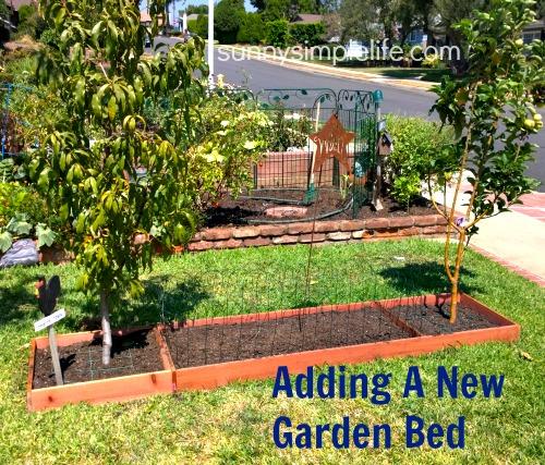 southern california garden, making a raised bed garden