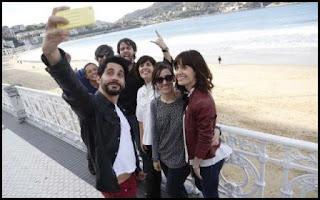 El equipo de Embarazados (Juana Macías, 2016) en San Sebastián
