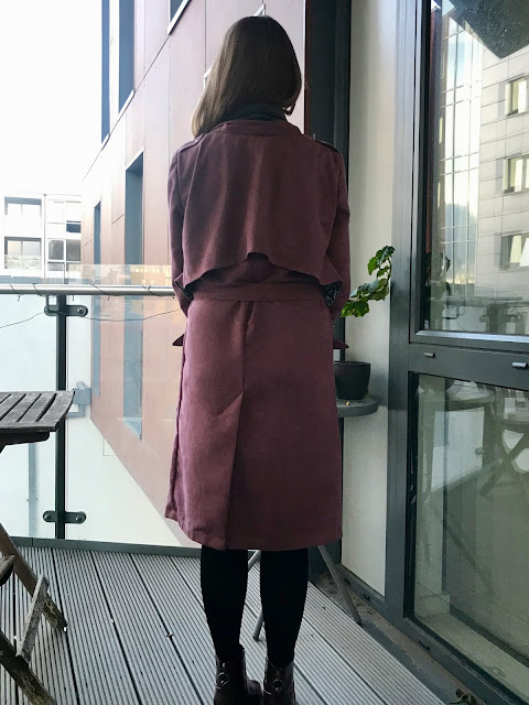 Diary of a Chain Stitcher: Dusky Pink Faux Suede Ulysses Trench