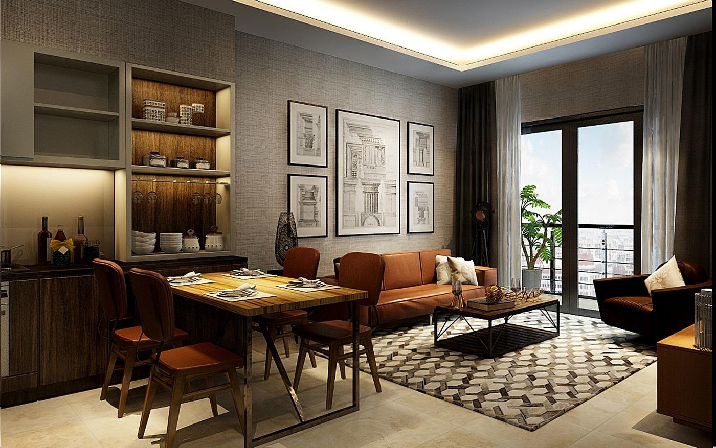Phối cảnh căn hộ Sun Grand City Quảng An.