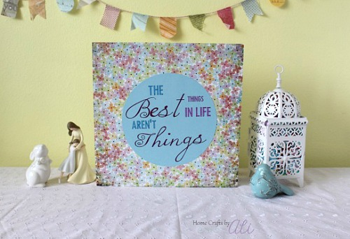 Thrifty Canvas Makeover Project Tutorial Home Crafts by Ali