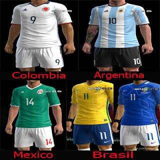 kitset Copa America Selecciones Pes 2013