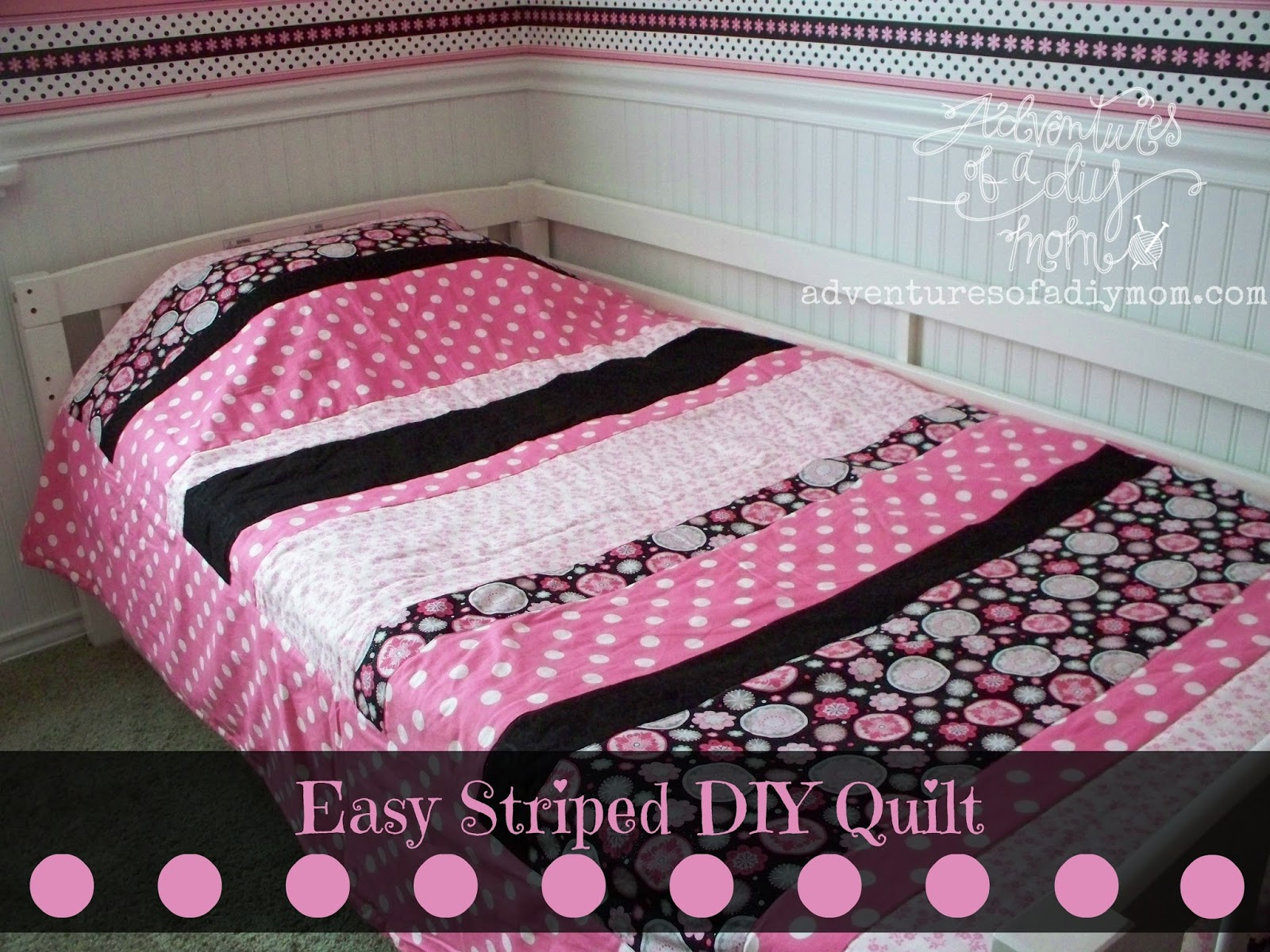 How To Make A Quick And Easy Striped Quilt Adventures Of