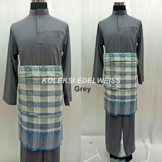 Baju Melayu Cekak Musang  Grey Kelabu