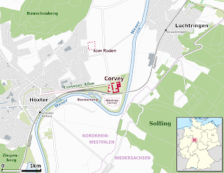 Mapa Abadía de Corvey