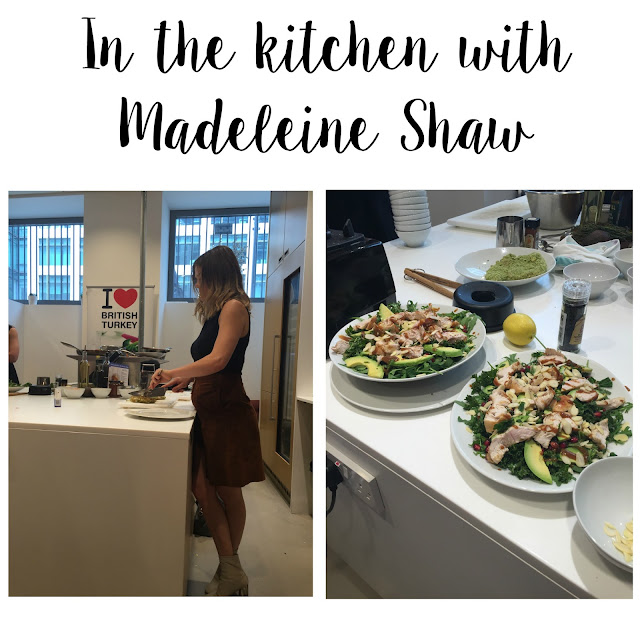 Madeleine Shaw recipe tasting