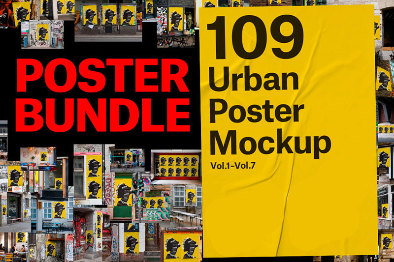 109 Urban Poster Mock-up Bundle
