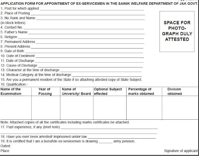 JOBS IN DIRECTORATE OF SAINIK WELFARE