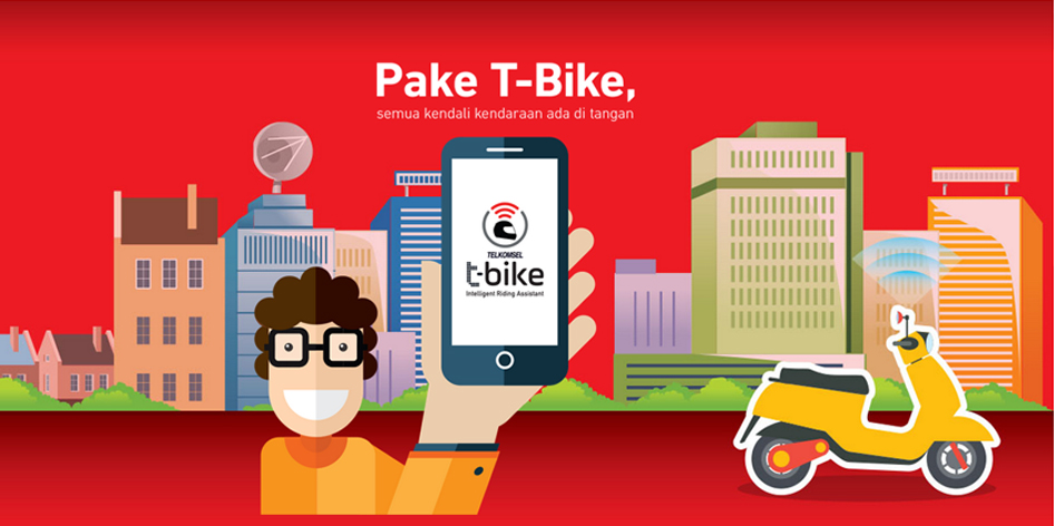 Aplikasi Keamanan Motor T-Bike Telkomsel