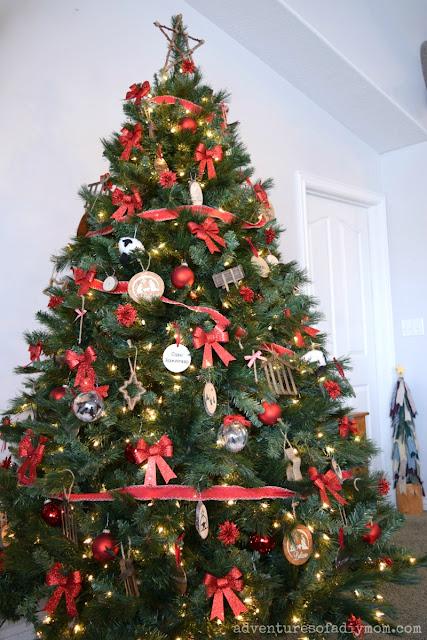 Christmas Tree with Nativity Ornaments