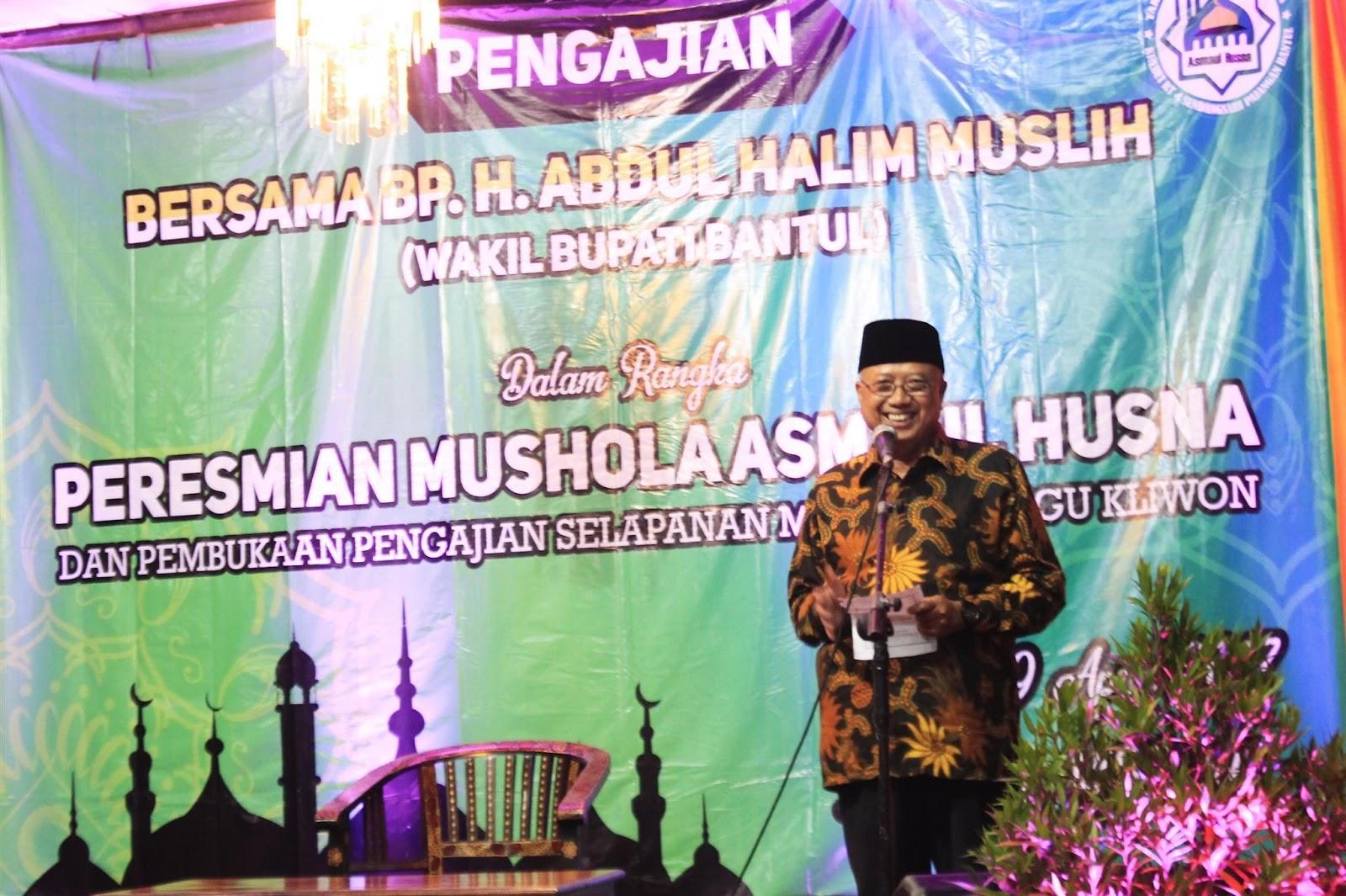 Peresmian Mushola Asmaul Husna Krebet Oleh Bupati Dan Wakil Bupati Bantul