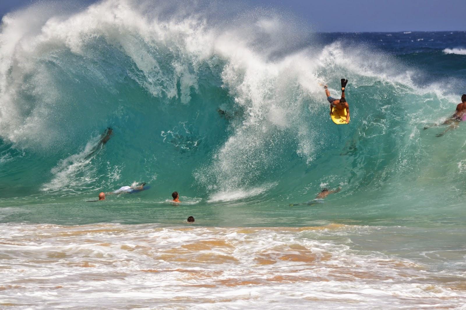 Family Travel Blog : Hawaii Daily Photo: Body boarding