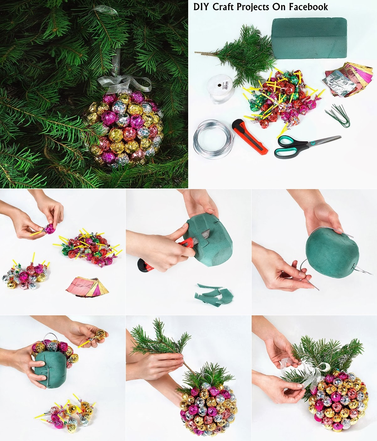 DIY Lollipop Christmas Ornament