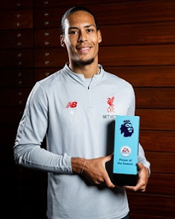 Liverpool's Virgil Van Dijk becomes the third defender to win the Premier League Player of the Season award for 2018-19