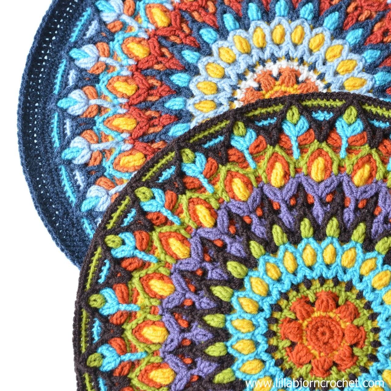 Spanish Mandala. Overlay crochet pattern by Lilla Bjorn Crochet