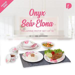 Onyx Seiv Elona Melamine Motif Set of 10