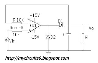 circuit diagram op amp peak detector