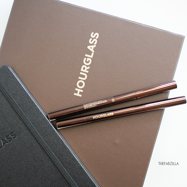 eyebrow tutorial, Hourglass Arch Brow Sculpting Pencil, review, swatch
